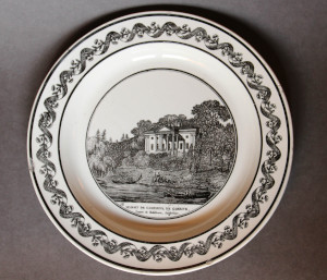Plate showing David Garrick's villa at Hampton