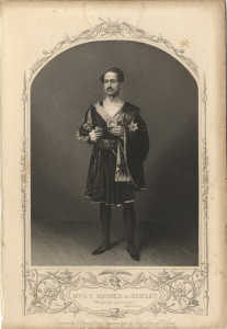 Mr G. V. Brooke as Hamlet