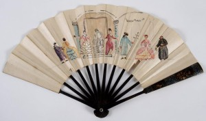 Fan with figures from Shakespeare, 18th-century