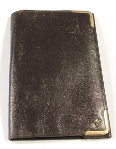 Fred Terry's leather wallet