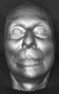 Sir John Gielgud's death mask