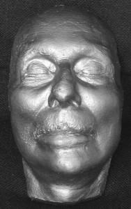 Sir John Gielgud's death mask
