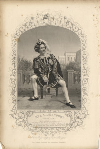Mr E. L. Davenport as Benedick