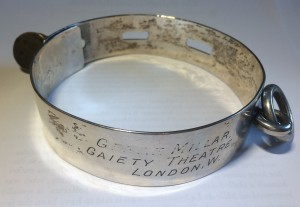 Dog Collar given to Gertie Millar by King Edward VII