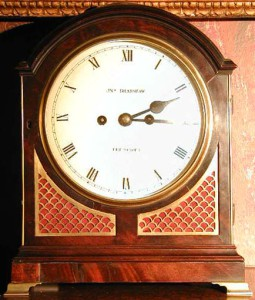 A nineteenth century bracket clock