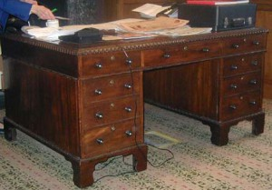 Charles Morgan's Library Desk