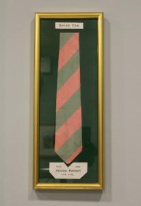 Arnold Haskell's Garrick Club tie