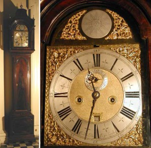 A striking long-case clock