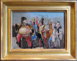 Falstaff holding court