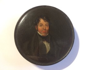 Enamel box with the head of John Liston