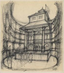 The Globe's interior