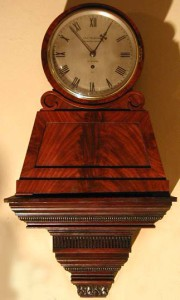 An English pedestal clock