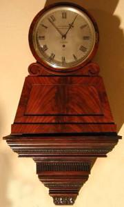 An English pedestal clock