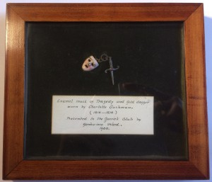 Charlotte Cushman's mask of tragedy and gold dagger