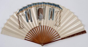 Fan with staue of Shakespeare, 18th-century