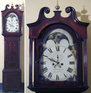 Gothic style long-case clock