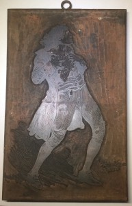 Woodblock of Henry Irving
