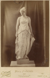 "Mary Anderson as ""Galatea"""