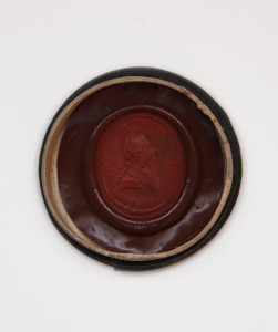 Wax seal taken from the seal of the Drury Lane Theatrical Fund