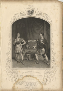Mr Macready as Cassius and Mr E. L. Davenport as Brutus