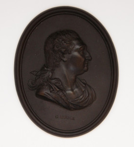Portrait medallion of David Garrick