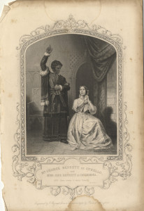 Mr George Bennett as Othello and Miss Jane Bennett as Desdemona