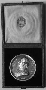 Silver portrait medal of David Garrick