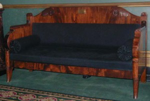 Lord Byron's Sofa from Missolonghi