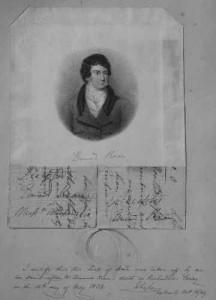 A lock of Edmund Kean's hair