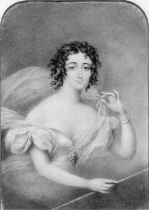 Lucia Elizabeth Vestris in allegorical character