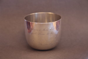 Silver tumbler belonging to John Moody