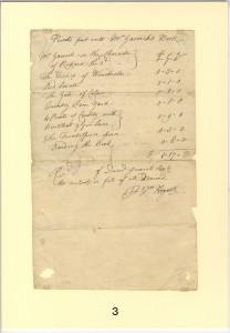 Bill of Sale to David Garrick signed by William Hogarth