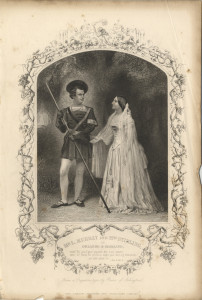 Mr L. Murray and Mrs Stirling as Orlando and Rosalind