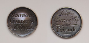 Pass to Marylebone Gardens issued to David Garrick and friends