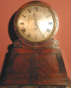 An old English pedestal clock