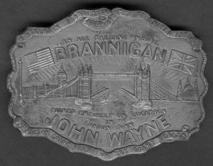 Commemorative belt buckle for the film Brannigan