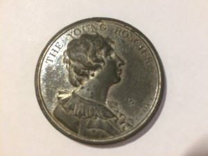 Portrait medallion of William Henry West Betty