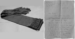 Henry Irving's gloves worn as Cardinal Wolsey