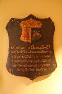 Plaque from 27 Southampton Street