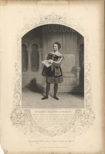 Mr Barry Sullivan as Hamlet