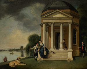 The Temple to Shakespeare at Hampton House with Mr. and Mrs. Garrick