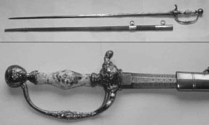 Small sword worn by William Farren