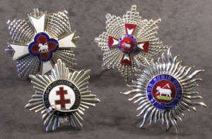 Four silver orders worn by Fred Terry