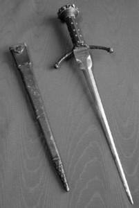Dagger worn by Sir John Martin-Harvey and Samuel Phelps as Hamlet