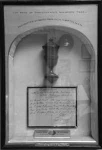 Garrick's Cup made from Shakespeare's Mulberry Tree