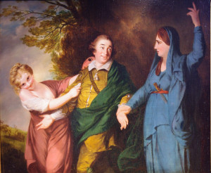 David Garrick between the Muses of Comedy and Tragedy